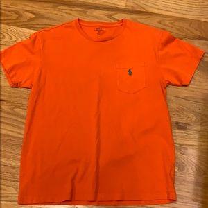 Polo Ralph Lauren men's orange pocket tee